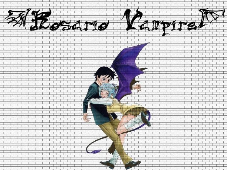 Fonds d'écran Manga Rosario + Vampire Tsukuné et Kurumu