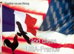 Fonds d'écran Hommes - Evênements France-USA : L'amitié Immuable