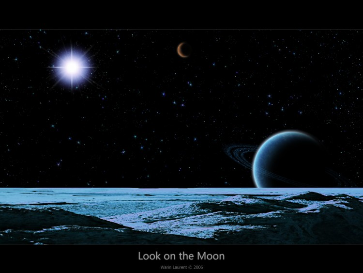 Wallpapers Space Stars - Nebulae Un regard sur la lune