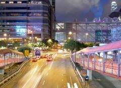 Fonds d'écran Voyages : Asie Hong Kong night traffic