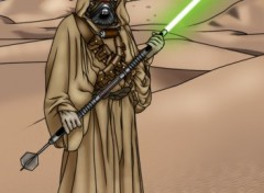 Wallpapers Fantasy and Science Fiction jedi master tusken