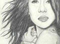 Fonds d'écran Art - Crayon Zhang Ziyi