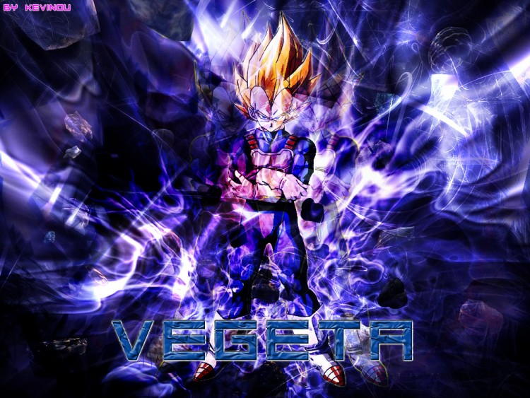 Fonds d'écran Manga Dragon Ball Z Vegeta_blue