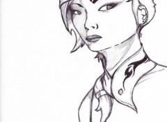 Fonds d'écran Art - Crayon Girl Art1