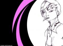 Fonds d'écran Art - Numérique girl art pink color