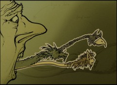 Wallpapers Digital Art Langue dragon