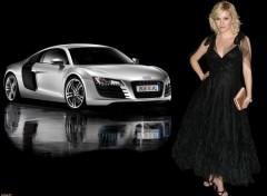 Fonds d'écran Célébrités Femme Elisha & Audi R8
