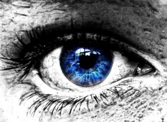Wallpapers Digital Art occhio blu
