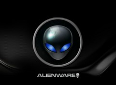 Fonds d'écran Informatique Alienware blue avec titre