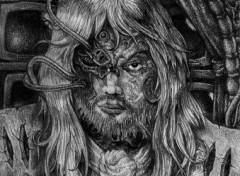 Wallpapers Art - Pencil Un homme et des écrans