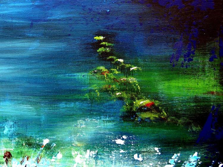 Fonds d'écran Art - Peinture Abstrait Zen aquatique (fragment)