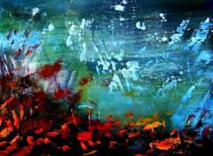 Fonds d'écran Art - Peinture Zen aquatique (fragment) 2