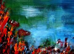 Fonds d'écran Art - Peinture Zen aquatique (fragment) 3