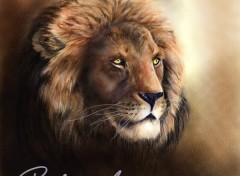 Fonds d'écran Art - Numérique Panthera leo