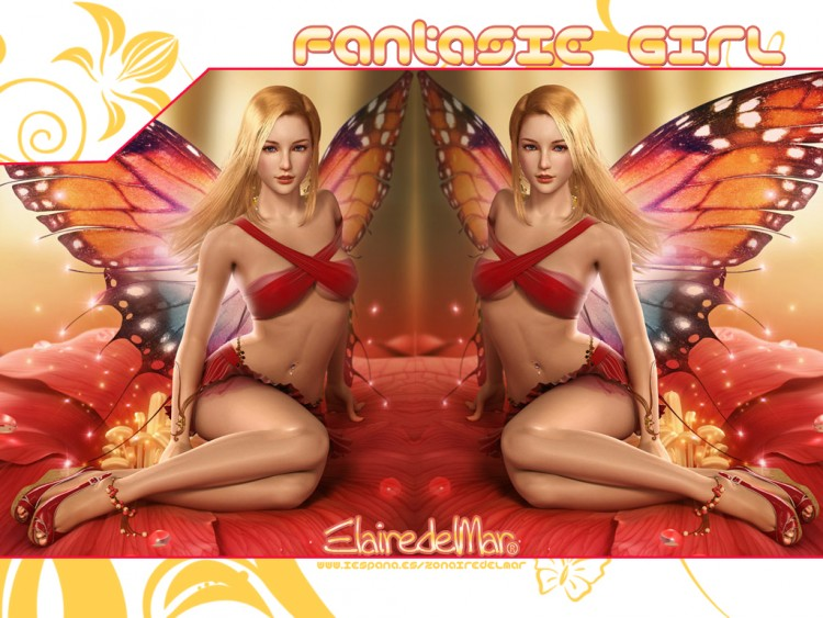 Fonds d'écran Fantasy et Science Fiction Fées - Lutins Fantasie Girl