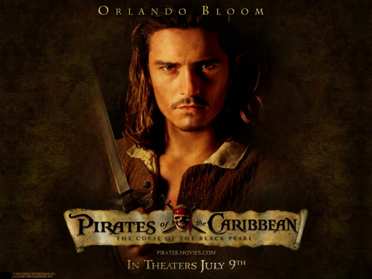 Fonds d'écran Cinéma Pirates des Caraibes, le Secret du Coffre Maudit Pirates des Caraibes : Will Turner