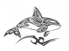 Fonds d'écran Art - Crayon orque tribal