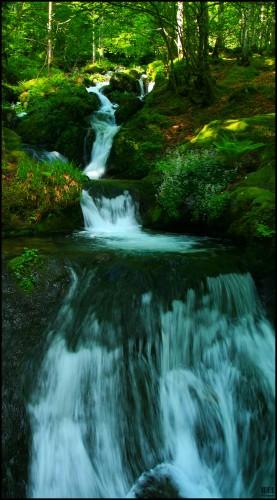 Wallpapers Nature Waterfalls Liquid steps