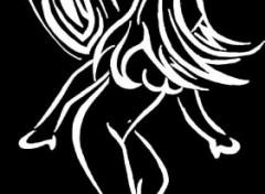 Fonds d'écran Art - Crayon fée tribal