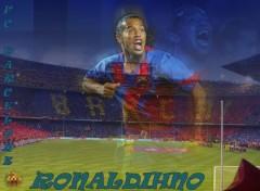 Fonds d'écran Sports - Loisirs Ronaldinho ( FC. Barcelone)