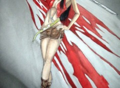 Fonds d'écran Art - Peinture femme fatale?