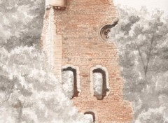 Fonds d'écran Art - Peinture Ruine