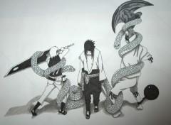 Fonds d'écran Art - Crayon Sasuke/Juugo/Suigetsu