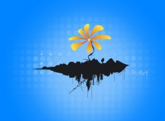 Fonds d'écran Art - Numérique Une petite fleur.