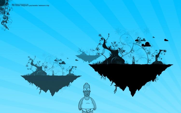 Fonds d'écran Dessins Animés Les Simpsons The Homer Simpson's psychedelic habanero trip