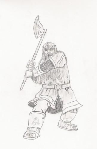Fonds d'écran Art - Crayon Fantasy - Seigneur des anneaux Gimli