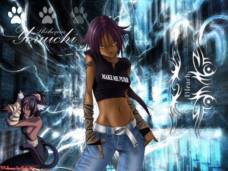 Wallpapers Manga Wallpapers Bleach Tribal Yoruichi By