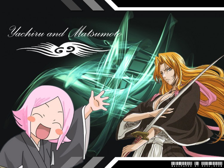 Wallpapers Manga Wallpapers Bleach Yachiru And Matsumoto By