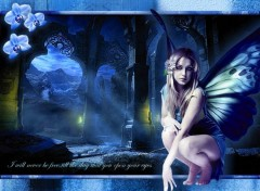 Wallpapers Fantasy and Science Fiction Fée bleue