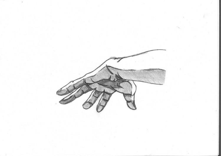 Wallpapers Art - Pencil Hands, feet, skeletons main