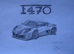 Fonds d'écran Art - Crayon Remplacante de la Ferrari F430