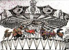 Fonds d'écran Art - Crayon Manége de Desti Nova