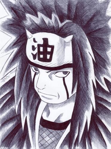 Fonds d'écran Art - Crayon Manga - Naruto jiraiya