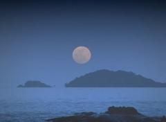 Fonds d'écran Nature soirée de pleine lune