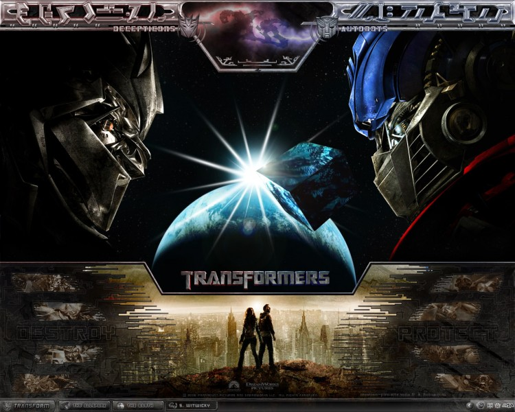 Wallpapers Movies Transformers Destroy VS Protect