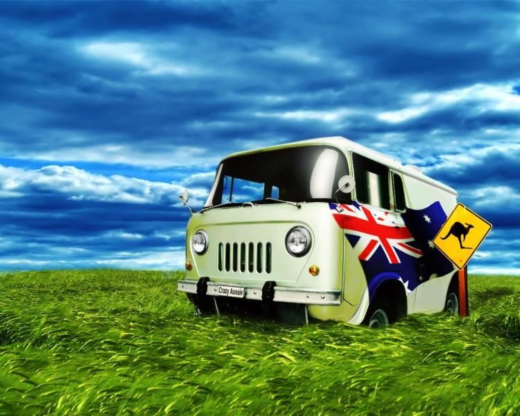 Fonds d'écran Voyages : Océanie Australie Crazy Aussie Bus