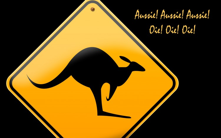 Fonds d'écran Voyages : Océanie Australie Kangaroo Roadsign