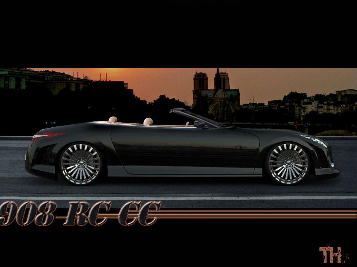 Fonds d'écran Voitures Peugeot Peugeot 908 RC CC concept TH
