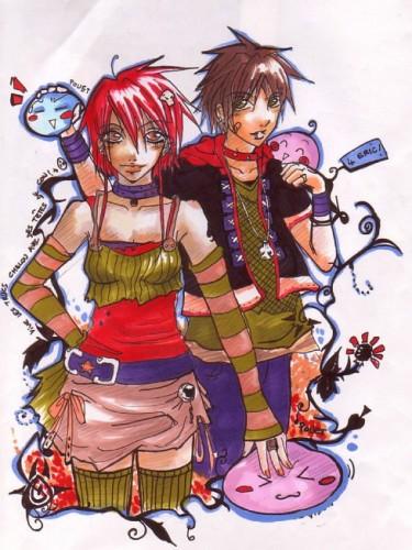 Wallpapers Art - Pencil Manga - Characters Bloup
