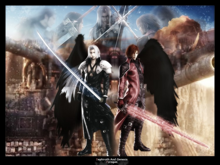 Wallpapers Video Games Final Fantasy VII Genesis and Sephiroth