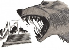 Fonds d'écran Art - Crayon Wolf's Rain