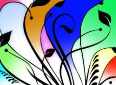 Fonds d'écran Art - Numérique Couleur et fleurs