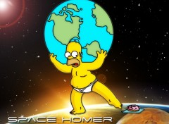 Wallpapers Cartoons Space homer