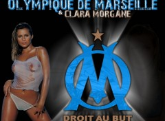 Wallpapers Sports - Leisures Olympique de Marseille et Clara Morgane
