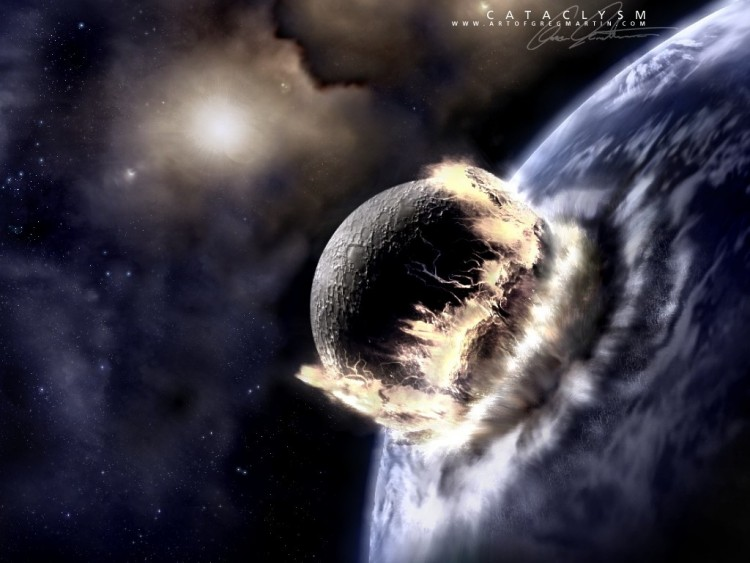 Fonds d'écran Espace Terre meteorite