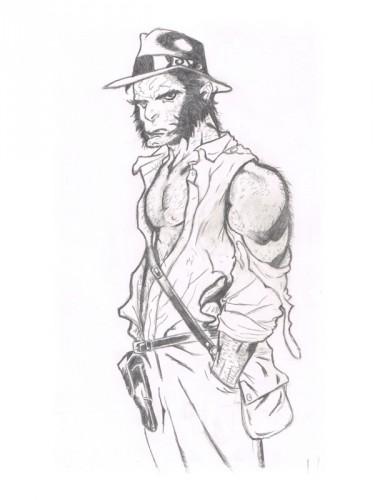 Fonds d'écran Art - Crayon Personnages detective